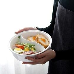 Ceramiczna duża miska na zupę podwójna siatka okrągły owocowy talerz sałatkowy ciasto chleb deser danie taca makaron zastawa stołowa kuchenne narzędzie do przechowywania