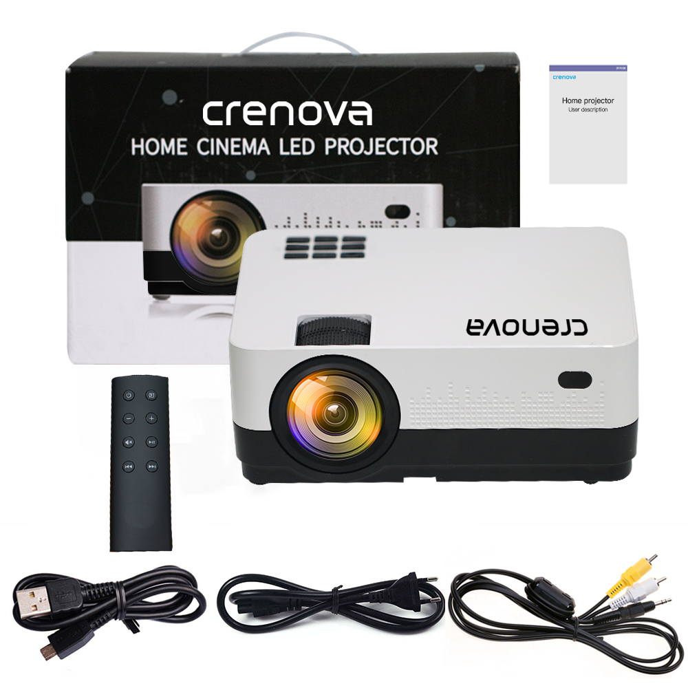 Image 5 - CRENOVA 2019 Newest Led Projector HD 1280*728P Android 6.1 OS 4300 Lumens Home Cinema Movie Projector With WIFI Bluetooth-in LCD Projectors from Consumer Electronics