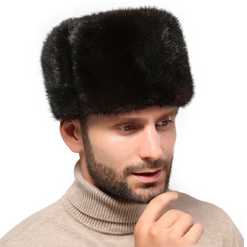 Hat Russian Solid-Snow-Cap Winter Fashion Warm And Autumn Men Feng Lei Inside Thick Men's
