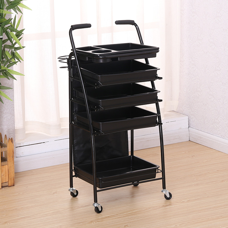 Hairdressing Cart Hair Salon Stroller Hairdressing Tool Car Beauty Cart Barber Shop Stroller Hairdressing Bar Table