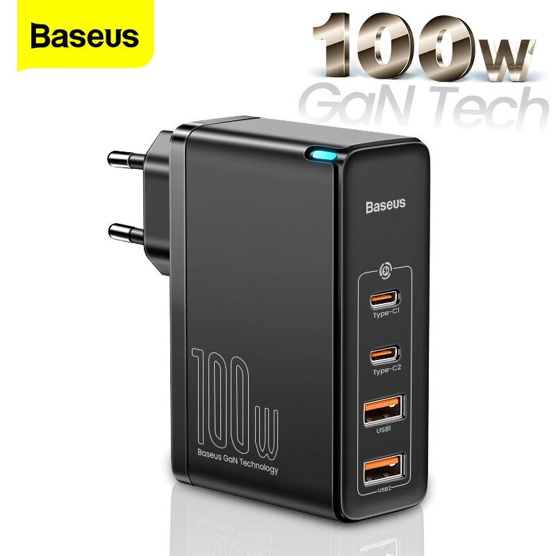 Baseus-cargador USB tipo C para móvil, cargador de carga rápida PD QC 100 4,0 3,0 USB-C tipo C para iPhone 12 Pro Max Macbook