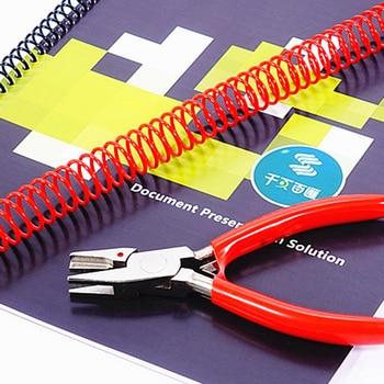 1pc nouvelle spirale/simple bobine Machine à relier pince de fermeture étudiant papeterie simple bobine fin pince