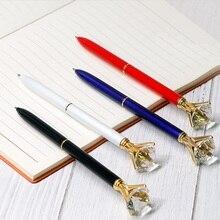 [4Y4A] 10 pièces/lot accepter logo personnalisé coloré créatif grand diamant stylos plaisir peinture Pile stylo cristal stylo étoile Signature cadeau