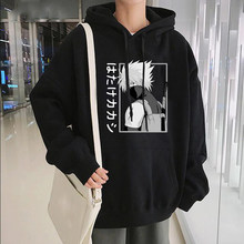 Kakashi anime naruto hoodies moletom dos homens oversized manga comprida pulôver moda anime manga preta hoodies masculino hoodie quente