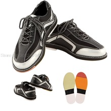 Mens Breathable Bowling Shoes Anti-slip Sole Professional Sneakers Unisex Lightweight Anti-Slip Trainers Walking Shoes 35-46
