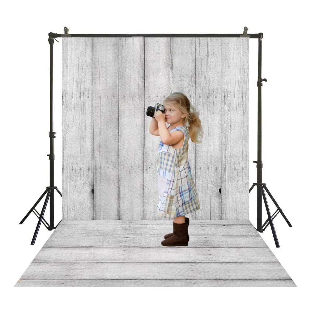 Vintage Gray Wooden Self Portrait Wedding Baby Photography Background Custom Photography Studio Photography Background