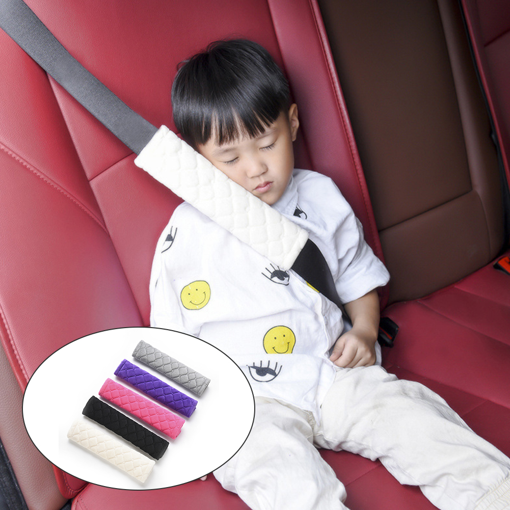 2Pcs Soft Suede Seat Belt Shoulder Pad Shoulder Strap Covers for Kids Adults