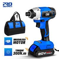 PROSTORMER-destornillador eléctrico inalámbrico, 20V, 300nm, Motor sin escobillas, Kit combinado de controlador de impacto, herramientas de carpintería para el hogar