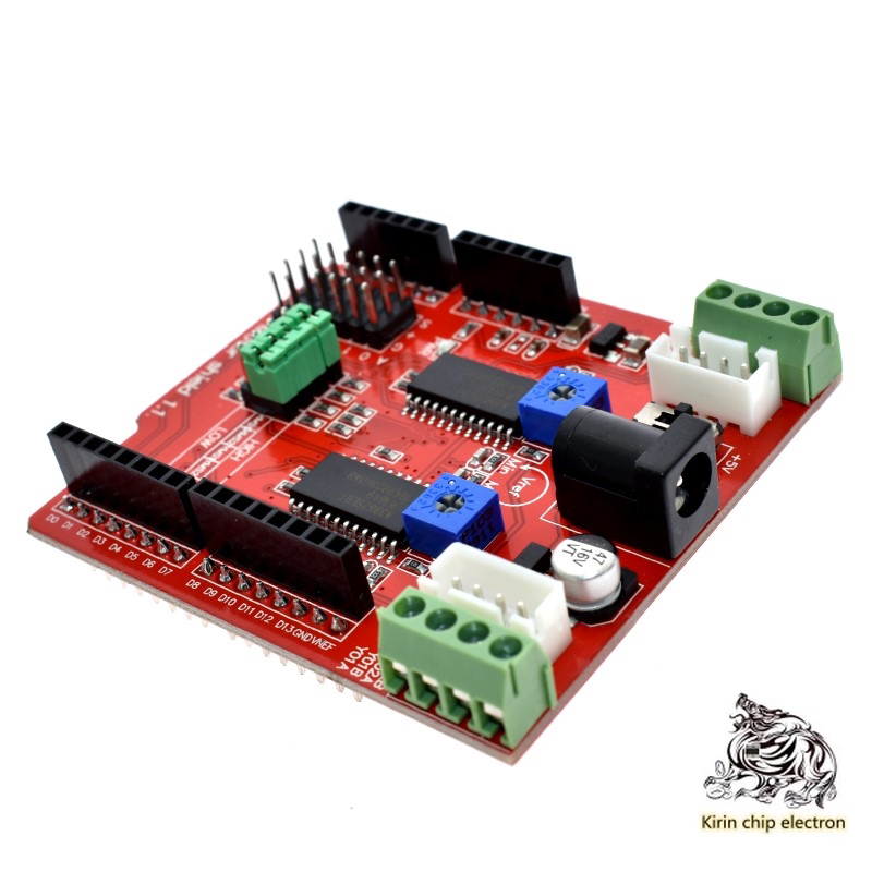 2pcs / Lot Stepper Motor Drive Shield Two-way Stepping Motor Drive Expansion Board