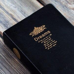 Image 4 - Bardzo grube Retro złoty obręcz zeszyt gładki sen wytłaczanie na gorąco miękki notatnik duży obraz napisz pamiętnik piśmiennicze dziennik prezent
