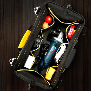 Image 4 - Tool Bag Portable Electrician Bag Multifunction Repair Installation Canvas Large Thicken Tool Bag Work Pocket
