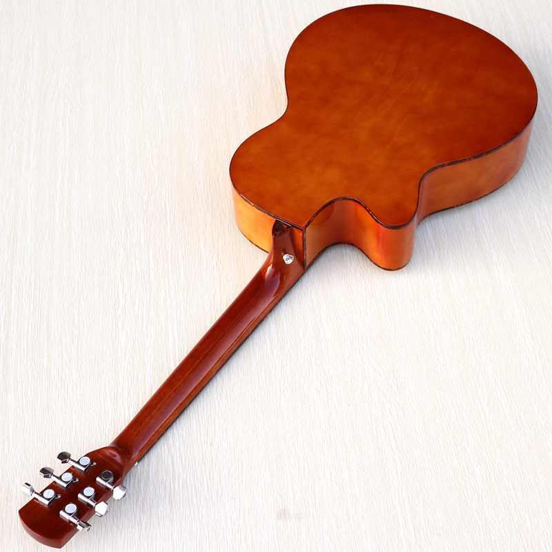 2020 nova chegada cor natural acústico-guitarra elétrica 41 polegada guitarra acústica guitarra folk cutway com eq