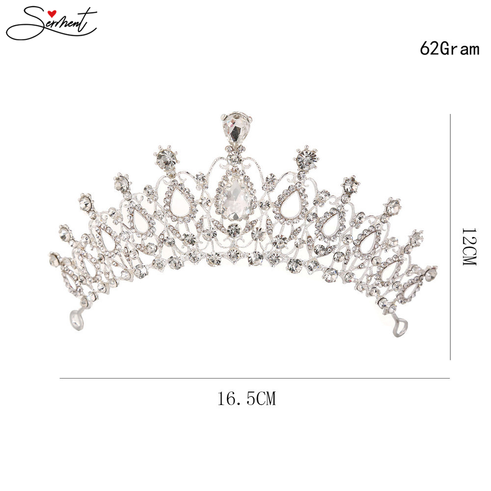 Wedding Party Jewelry  Crystal Bride Crowns Fashion Pearl Queen Wedding Headdress  Wedding Hair Jewelry Hair Accessories
