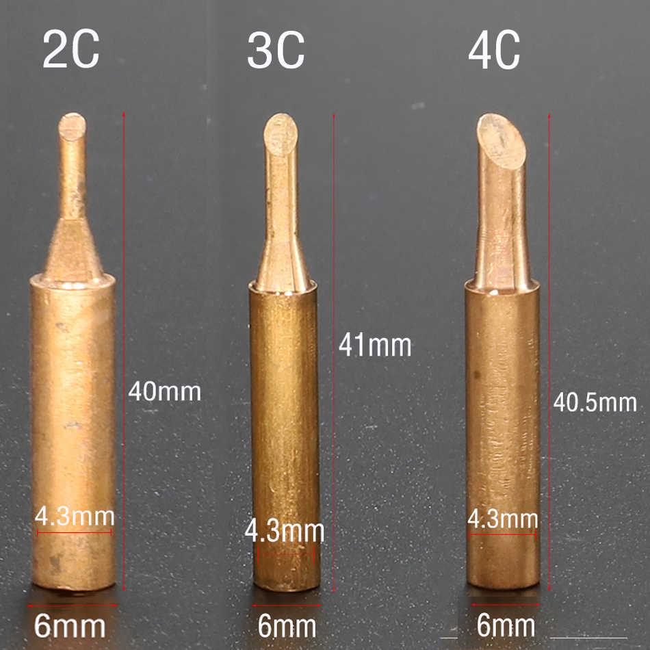 Ferro de solda ponta 900m-t sem chumbo, solda de ponta de solda de cobre puro sem chumbo para estação de retrabalho de solda soldagem ponta de ferramenta