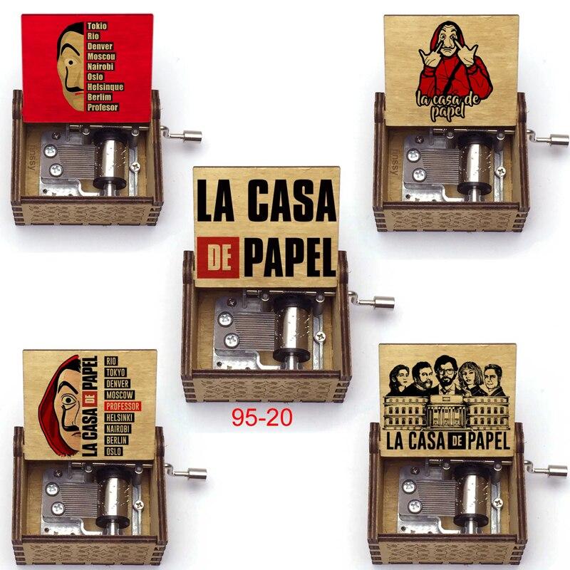 Поставка в наличии музыкальная шкатулка включает в себя бесплатный брелок DIY La Casa De Papel Bella Ciao, музыкальная шкатулка для денег, подарки для друзей больших размеров Музыкальные шкатулки      АлиЭкспресс