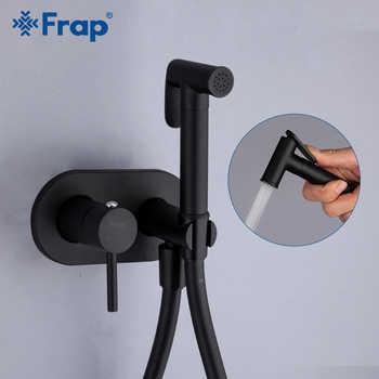 Frap Matte Black Bidet Shower Faucet Solid Brass Bidet Faucet Muslim Ducha Higienica Mixer Tap Toilet Faucets Y50060/1 - DISCOUNT ITEM  45% OFF All Category