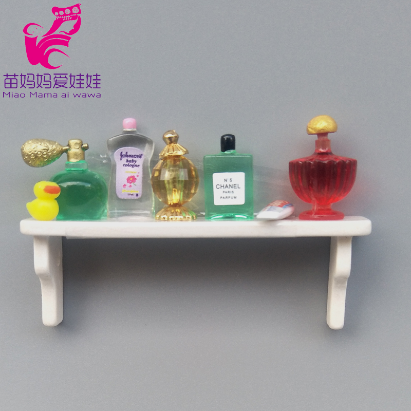 Mini Perfume Doll And Shelf House Diy Accessories For 1/8 1/12 Bjd Barbie Blyth Doll House Furniture Decoration