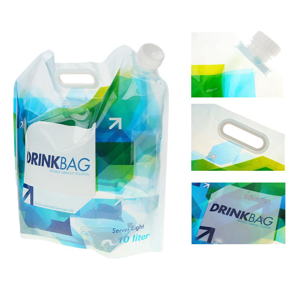 Portable 10L Folding Outdoor Camping Drinking Water Bag Container Carrier