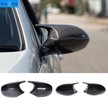 2xMirror Cover E90 Car Side Door Rearview Side Mirror Cover Cap For BMW E90 E91 2005-2007 E92 E93 2006-2009 M3 Style E80 E81 E87 for bmw m1 e82 m3 e90 e92 e93 2008 2013 add on style carbon fiber body side rear view mirror cover