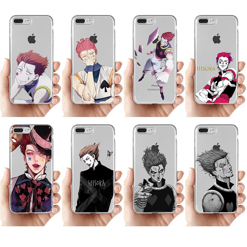 Hisoka Anime Hunter X hunter Phone Case for iPhone 8 7 6 6s Plus X xr Xs 11 pro max 5s se silicone Fundas Clear Cover Boy Cases(China)
