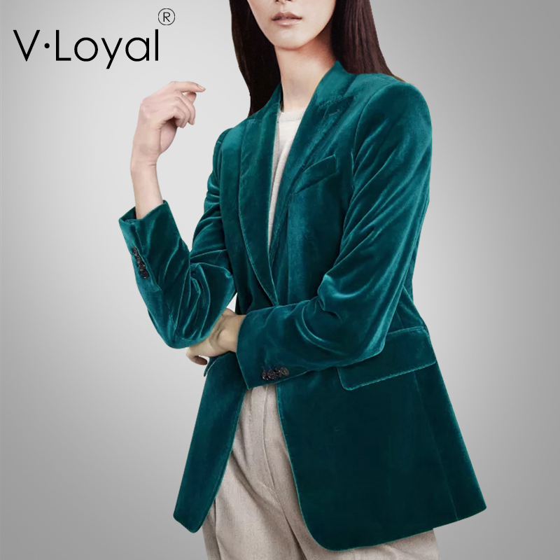 Early Autumn New Fashion Slim Royal Cashmere Suit Top European And American Small Suit Coat