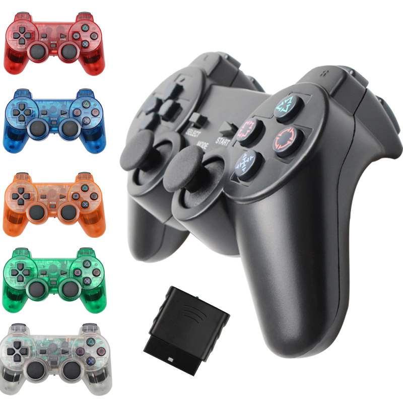 Wireless Gamepad for Sony PS2 Controller for Playstation 2 Console Joystick Double Vibration Shock Joypad Wireless Controle(China)