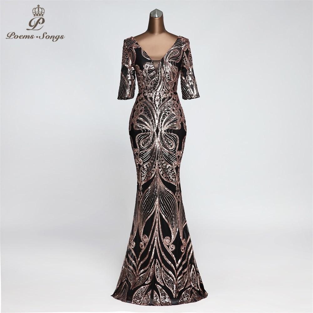 Butterfly Style  Evening Dress Half Sleeve Vestidos Elegantes Memaid Beautiful Evening Gown Unique Robe De Soiree