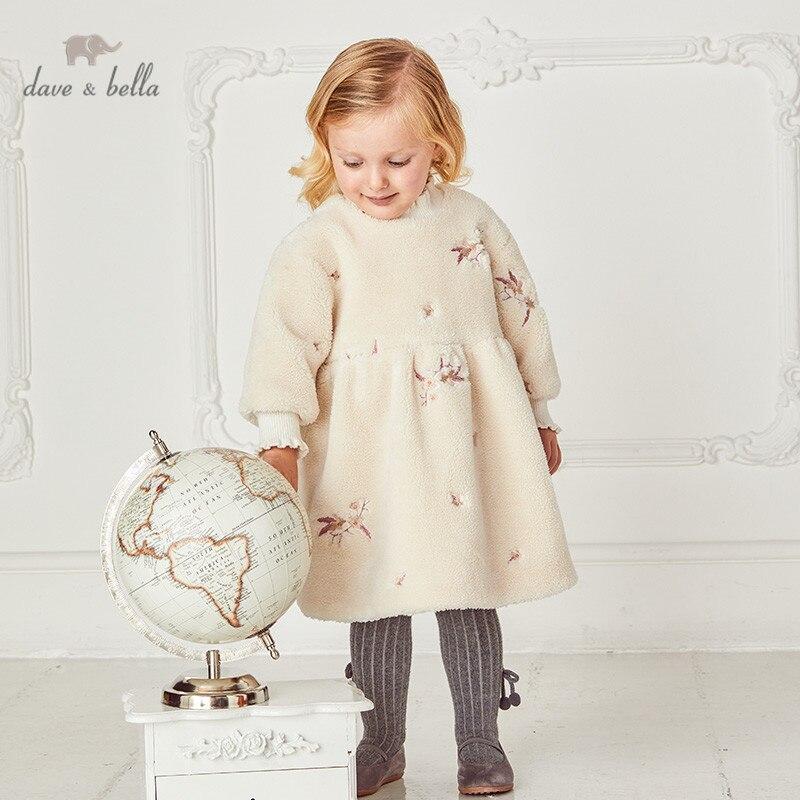 DB15852 нижнее белье в стиле бренда dave bella, зимнее пуховое пальто для малышей, для девочек, с цветочной печатью платье модная детская одежда Вечерние Платье детское модное платье|Платья| | АлиЭкспресс
