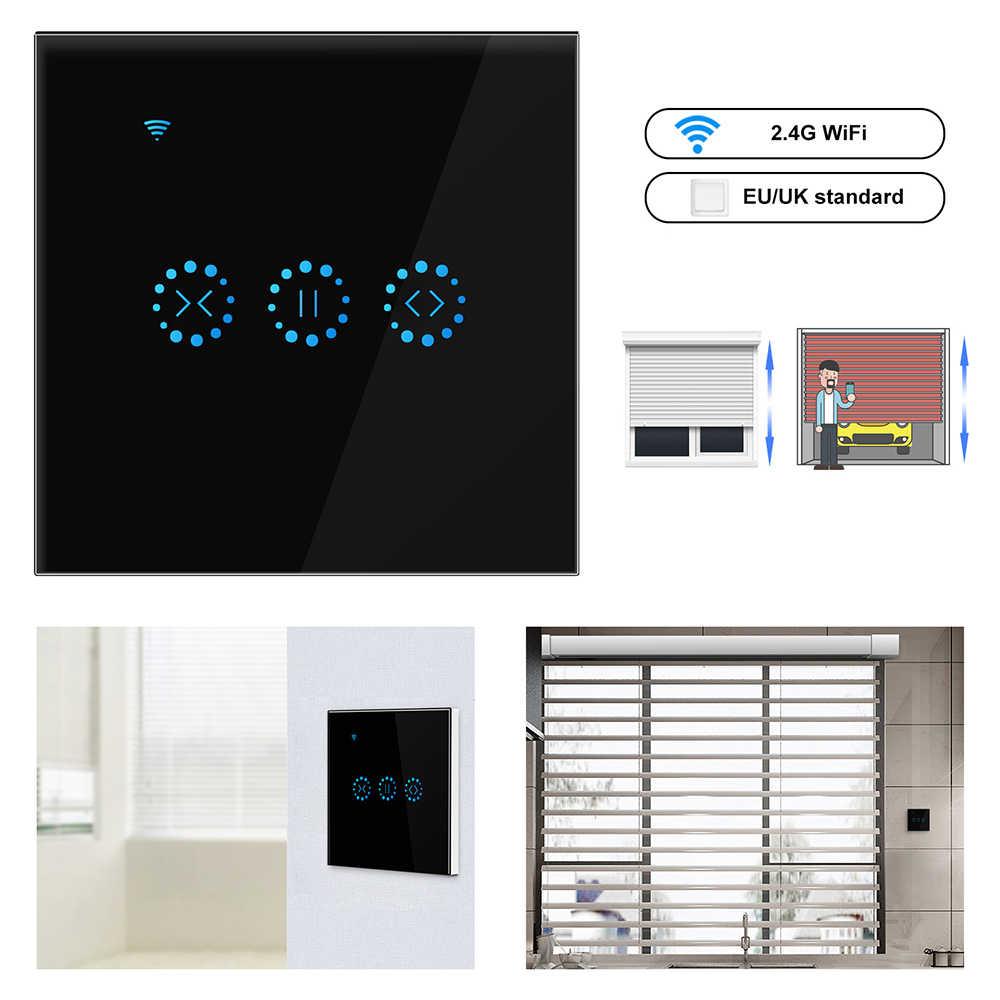 WiFi スマートカーテンスイッチリモコン電動電動カーテンブラインドローラーシャッター Alexa と Google ホームで動作