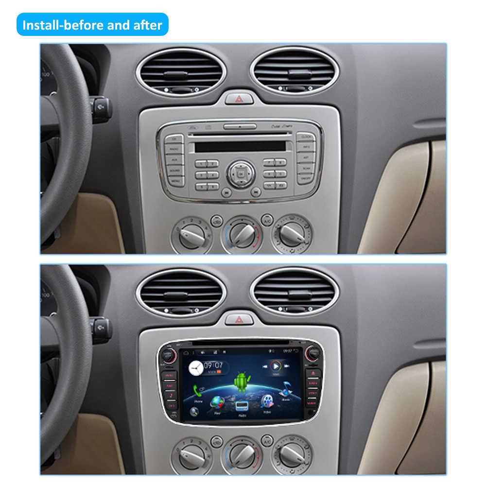 Bosionアンドロイド10車dvdフォードモンデオフォーカスs-max smax久我c-max gpsインテリジェントラジオビデオwifi bt swcマルチメディアプレーヤー