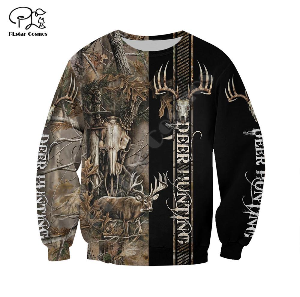 PLstar Cosmos hunter camo deer animal casual 3D Printed Hoodie Sweatshirt Jacket shirts Mens Womens HIP HOP fit Harajuku style 1 in Hoodies amp Sweatshirts from Men 39 s Clothing