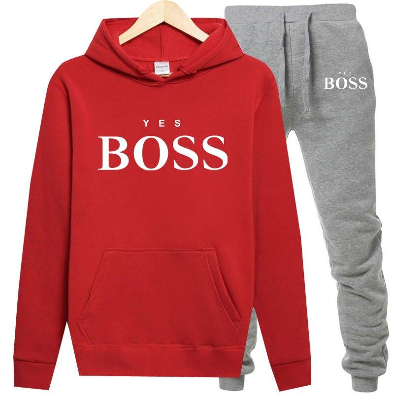 Зимний спортивный костюм для женщин, комплект из 2 предметов, толстовка с принтом + штаны, спортивная одежда, женский спортивный костюм, толс...