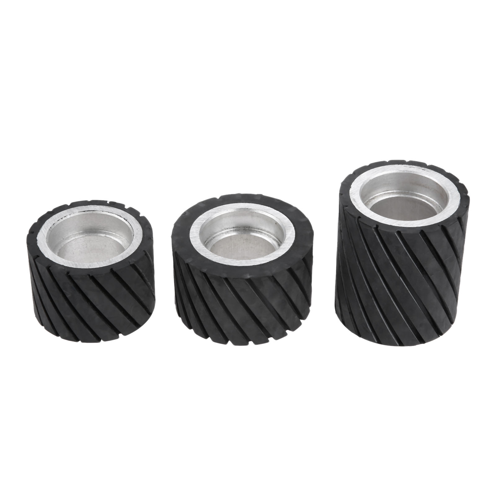 70x50mm 80x50mm 70x80mm Belt Grinder Rubber Contact Wheel Abrasive Sanding Belt Set Polishing Grinder Sanding Contact Wheel Belt