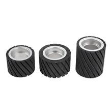 70x50mm 80x50mm 70x80mm Belt Grinder Rubber Contact Wheel Abrasive Sanding Belt Set Polishing Grinder Sanding Contact Wheel Belt 100 100mm grooved rubber wheel belt grinder part