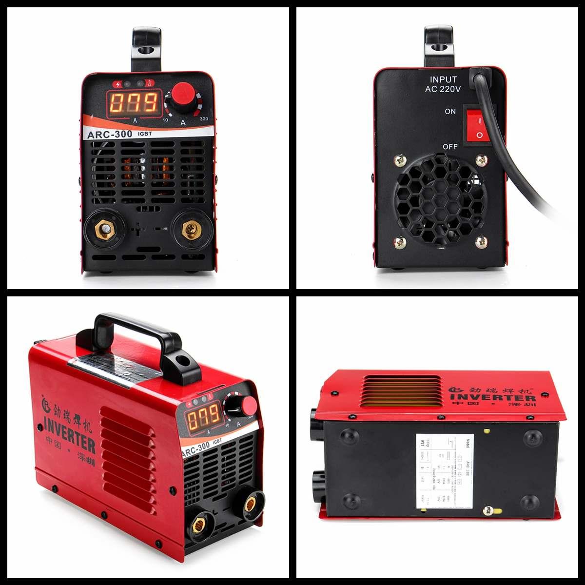 ARC-300 220V LCD Электрический IGBT инвертор MMA ARC ZX7 портативный сварочный аппарат дуговые сварочные аппараты (Ramdom color)
