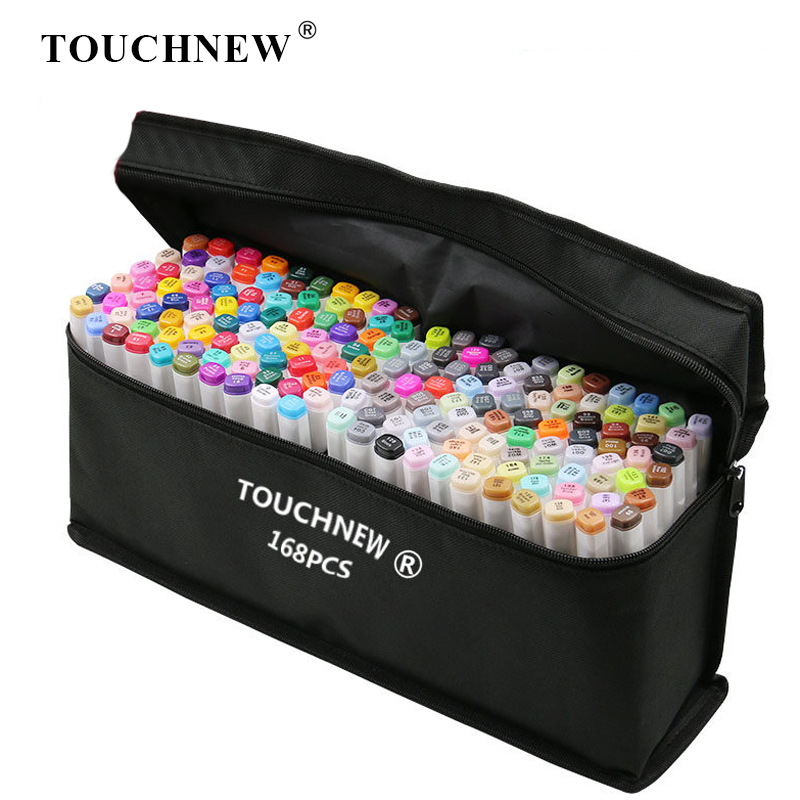 TOUCHNEW Art Markers Alcohol Based Markers Drawing Pen Set Manga Dual Headed Art Sketch Marker Design Pens School Supplies