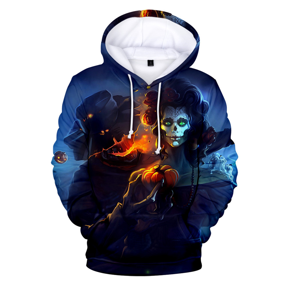 halloween sweatshirt mens 2019 fall 3d hoodies fashion casual hoodie streetwear harajuku sweatshirts casual skulls men in Hoodies amp Sweatshirts from Men 39 s Clothing