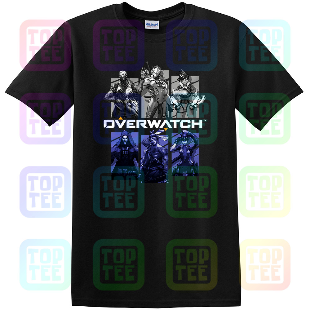New Gaming T Shirt Blizzard Overwatch Video Game 'Characters'