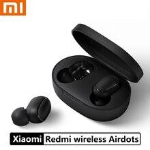 Orijinal Xiaomi Redmi Airdots TWS kablosuz Bluetooth kulaklık Stereo bas Bluetooth 5.0 Mic ile Handsfree AI kontrol kulaklıkları