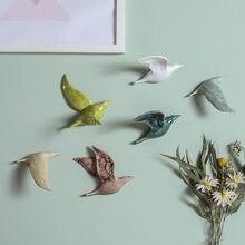 Decorazioni per appendere a parete a forma di uccelli in ceramica 3D decorazioni per la Casa semplici accessori Decoracao Para Casa ornamenti per artigianato da parete