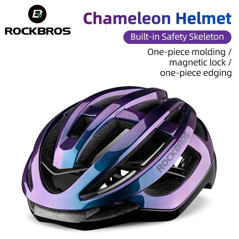 ROCKBROS Сверхлегкий велосипедный шлем для мужчин Велоспорт интегрально-литой шлем для женщин MTB дорожный горный велосипед дышащий спортивный ...