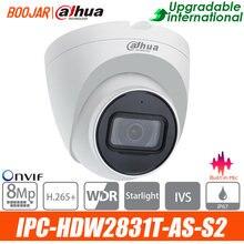Dahua original 4k câmera ip câmera de segurança 8mp IPC-HDW2831T-AS poe mic slot para cartão h.265 ir 30m ivs onvif ip67 luz das estrelas