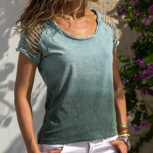 2020 Hollow Out Shirt for Women Summer Tops and Tees Short Sleeve Casual T