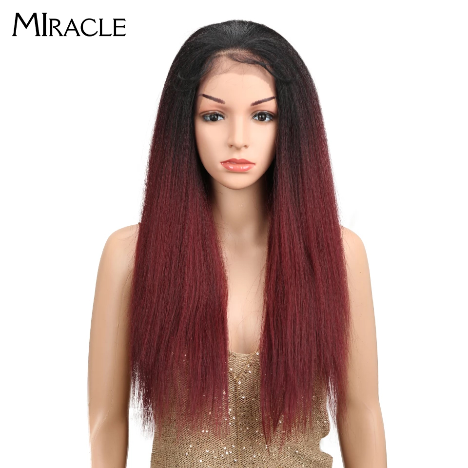 Miracle Brown Color Yaki Straight Natural Hairline 26