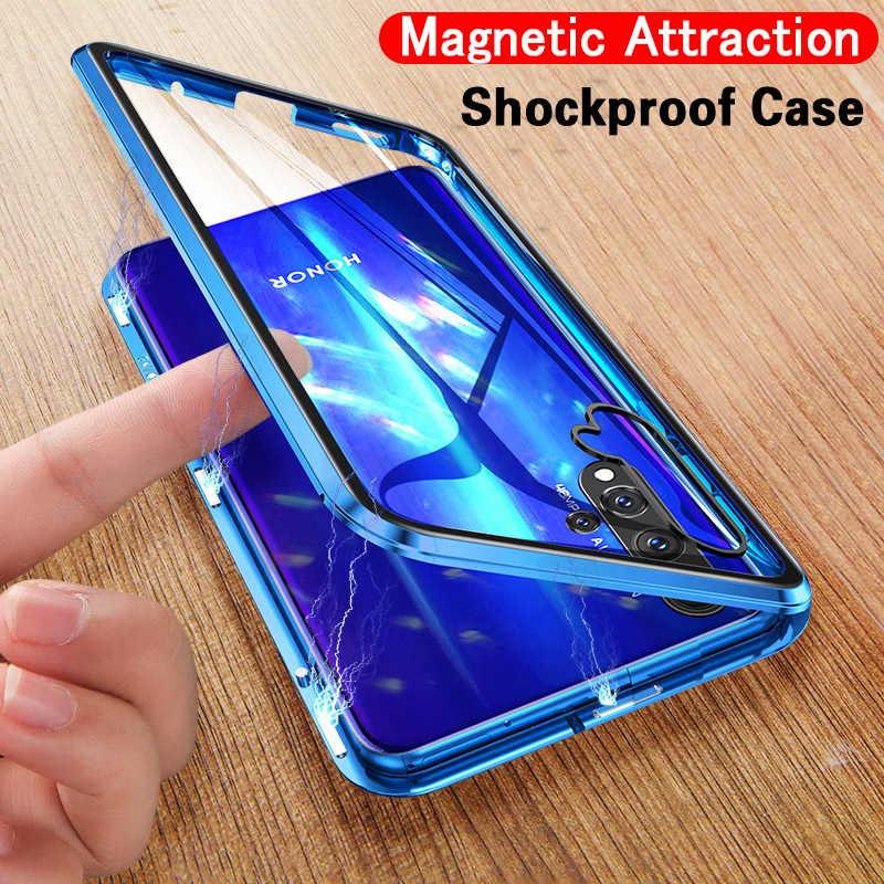 US $3.11 22% OFF|Luxury Magnetic Adsorption Shockproof Case For Huawei P30 P20 Honor 10 Lite Mate 20 Pro P Smart 2019 Tempered Glass Back Cover on AliExpress