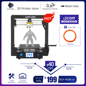 Image 1 - ANYCUBIC Mega S 3d принтер i3 Мега Модернизированный размера плюс TFT сенсорный экран Настольный FDM 3d Принтер Комплект impresora 3d stampante 3d