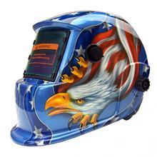 Solar Auto Darkening Adjustable Electric Welding Mask Helmet Welding Lens Welding Photoelectric Helmet for MIG/TIG Stick Welding