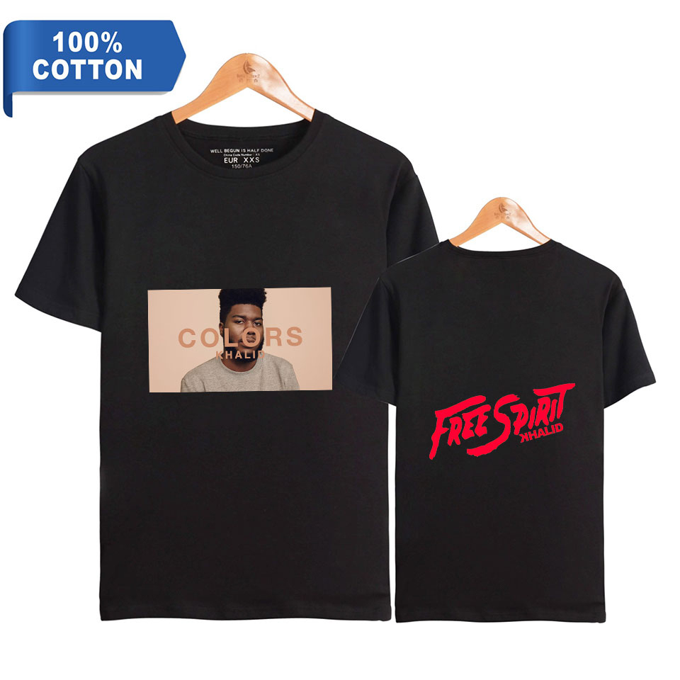 Khalid Robinson T-shirt Men Clothes 2019 Summer Hip Hop Oversized T Shirt Streetwear 100% Premium Cotton High Quality Wholesale image