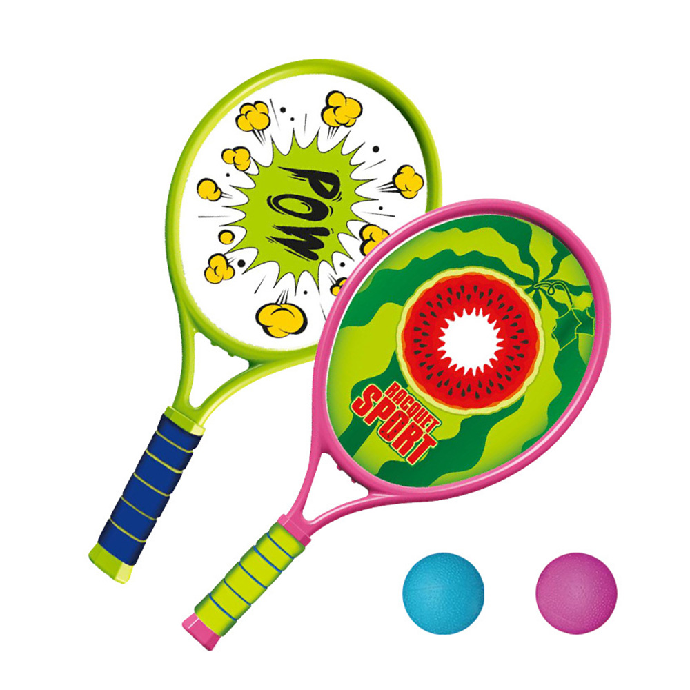 Kids Tennis Toy Set Racket And 2 Matching Balls Fitness Sports Toys Outdoor Exercise Fitness Equipment Toy For Children Gift New