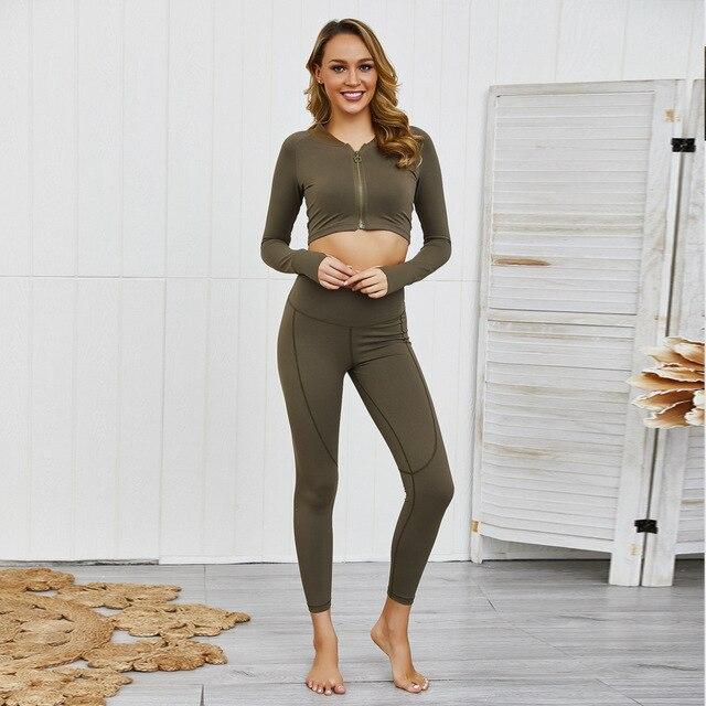 Фото женский бесшовный комплект для йоги одежда тренажерного зала цена
